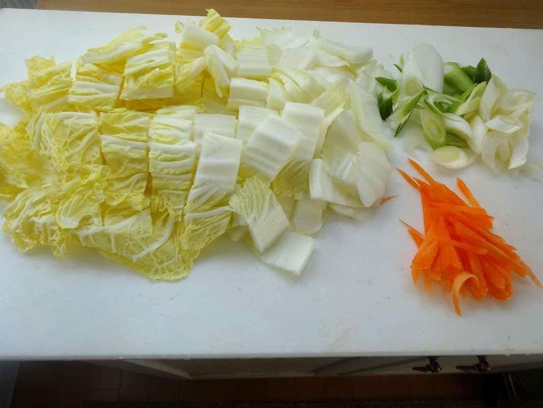 白菜と豚バラの中華炒め2