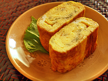 大葉とチーズの卵焼き